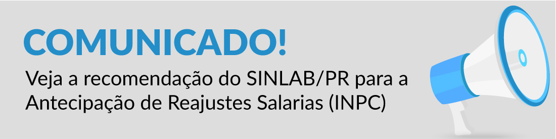 Recomendação do SINLAB/PR ao Reajuste Salarial (INPC)